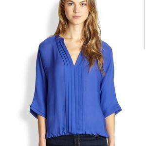 New with tags Joie murra Blue silk top medium